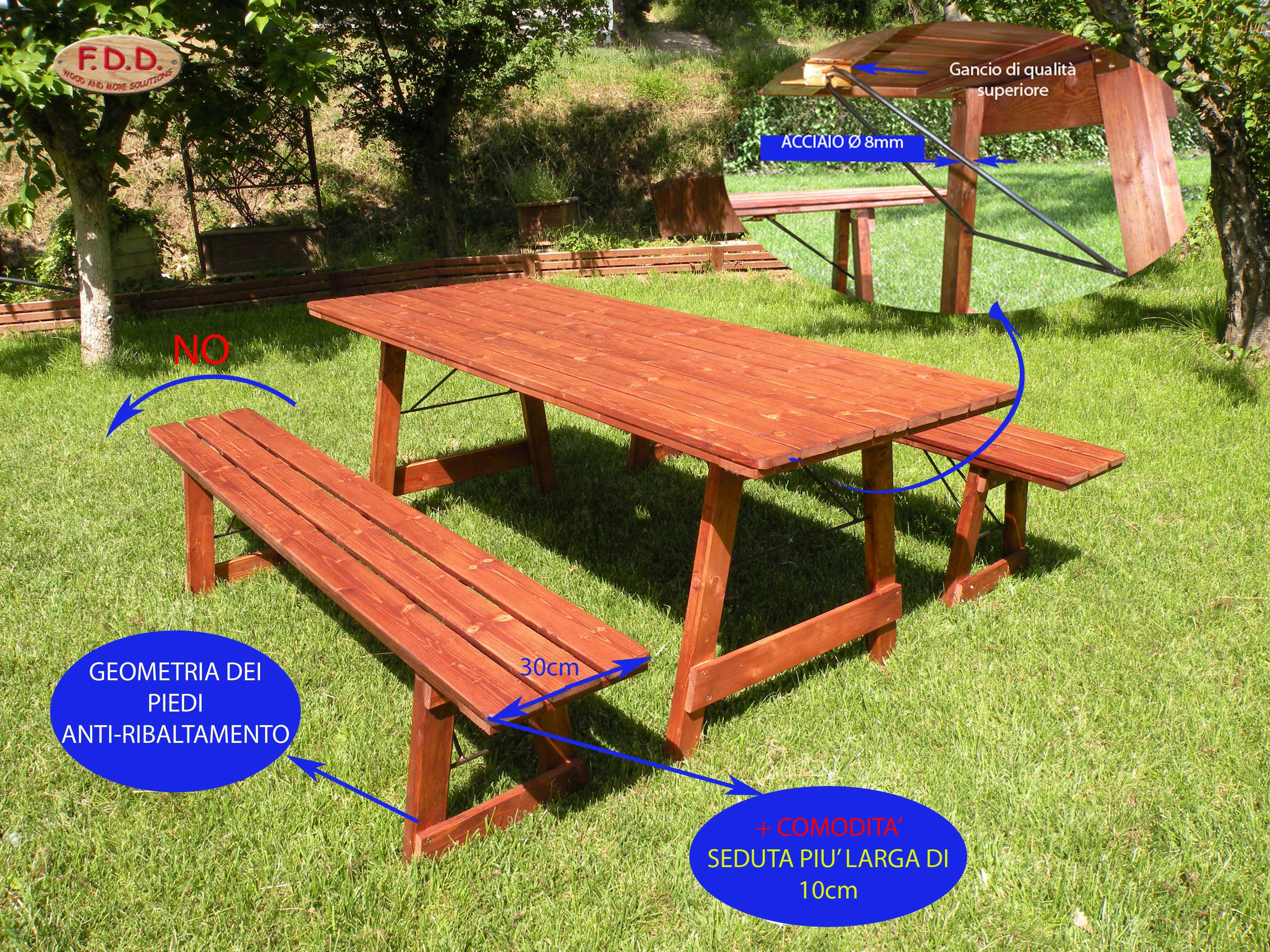 Tavoli per l 39 esterno in legno tavolo chiudibile in legno - Tavoli per esterno in legno ...